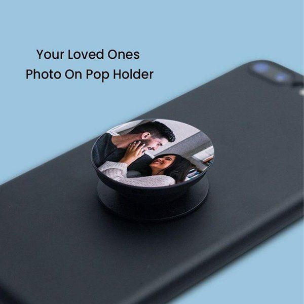 Waah Craft Personalized Family Photo Pop Socket Birthday Gift For Brother Under 200