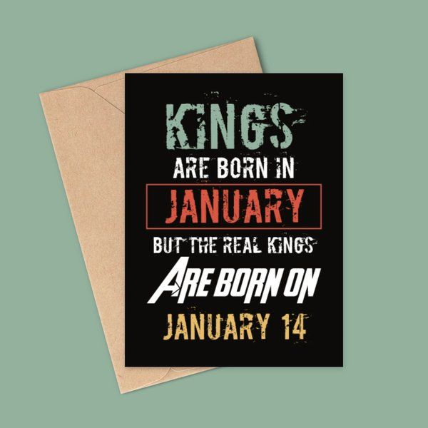 Privy Express Personalized King's Birthday Month Greeting Card with Date Birthday Greeting Cards For Friends