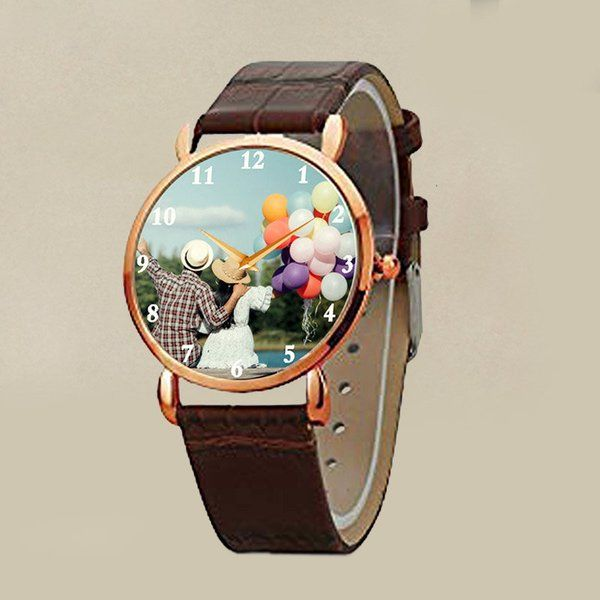 FlowerAura Personalized Quartz Watch for Men Personalized Gifts For Friends