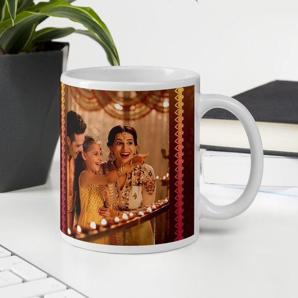 Privy Express Photo Personalized Diwali Special Coffee Git Mug Diwali Gifts For Wife