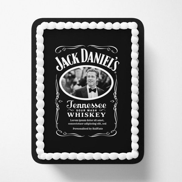 CakeZone Photo Personalized Jack Daniels Photo Cake Personalized Fathers Day Gifts