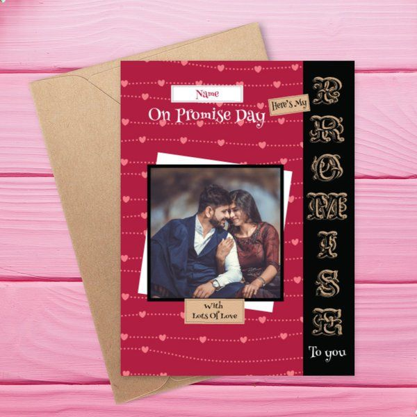 Privy Express Promise Of Forever And Always Love Personalised Photo Greeting Card Valentine Card For Husband