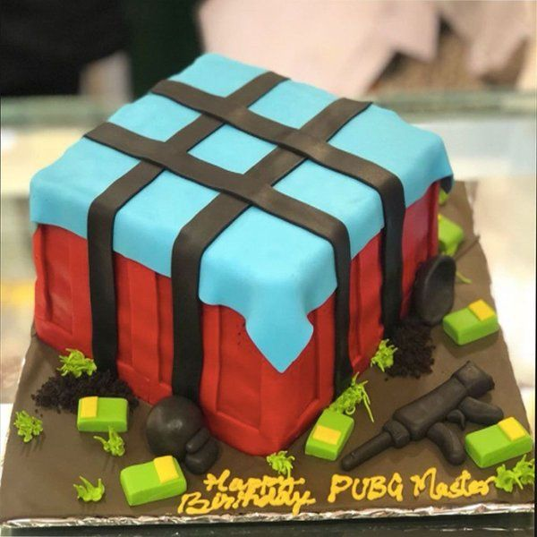 CakeZone PUBG Unknown Battlegrounds Cake Gifts For Teenage Brother