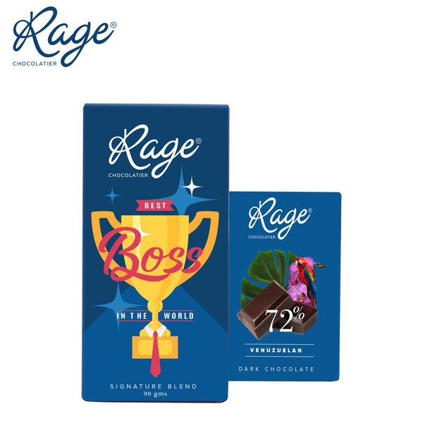 Rage Chocolatier Rage Chocolatier Combo Pack with Delicious Chocolate Bars 60th Birthday Gifts For Dad