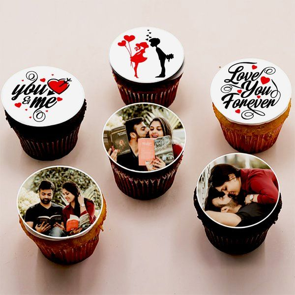 CakeZone Romantic Valentine's Day Photo Customized Designer Cupcake Useful Gifts For Wife