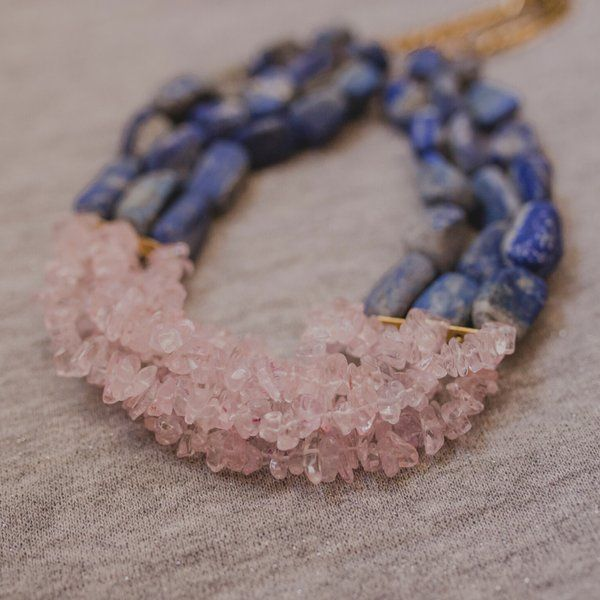 MyMeeraStore Rose Quartz Humming Necklace Jewellery For Mom