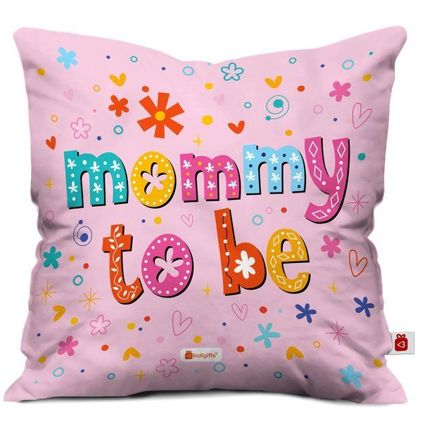 Indigifts Satin Baby Shower Gift Mommy To Be Cushion With Filler Baby Shower Gifts For Mom