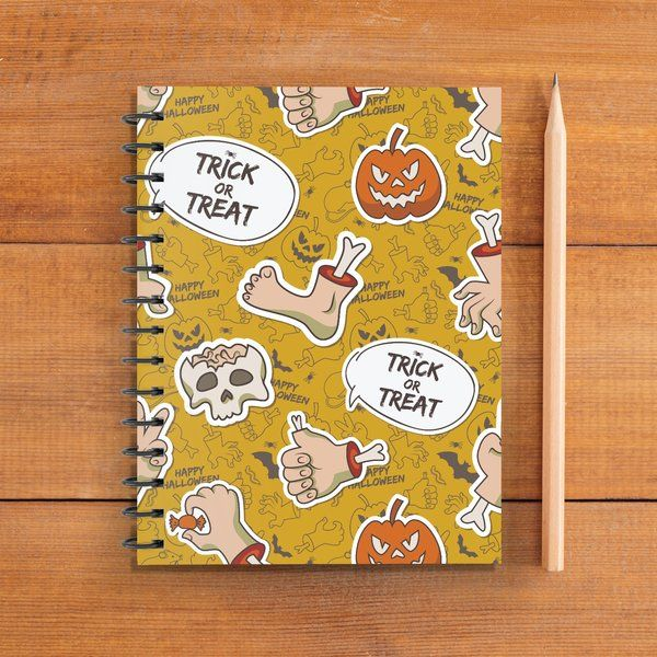 Privy Express Scary Trick or Treat Halloween Doodle Notebook (Notepad) Gifts For Online Friends