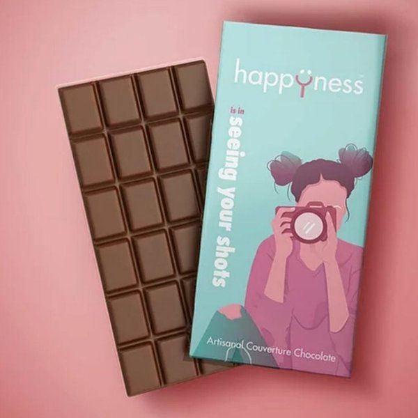 Happyness Chocolates Seeing Your Shots Chocolate Bar For Girl Surprise Gift For Sister
