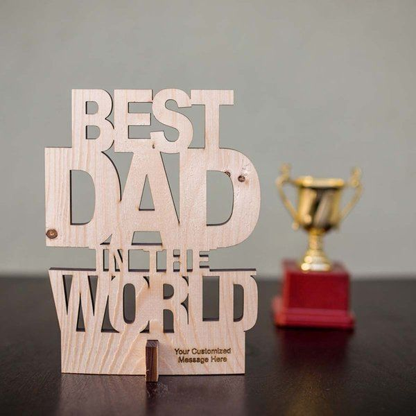 FlowerAura Showpiece for the Best Dad Last Minute Fathers Day Gifts