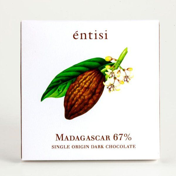 Entisi Single Origin Madagascar 67% Dark Chocolate Bar Holi Chocolates
