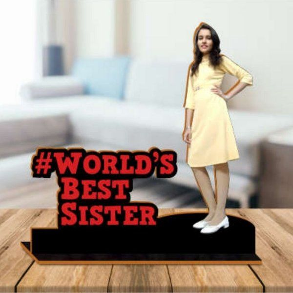 Best Gift for Sister Under 1000 Wooden Photo Standby with Message