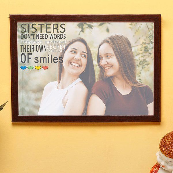 FlowerAura Sisters Love Wall Art Thoughtful Sister Gifts