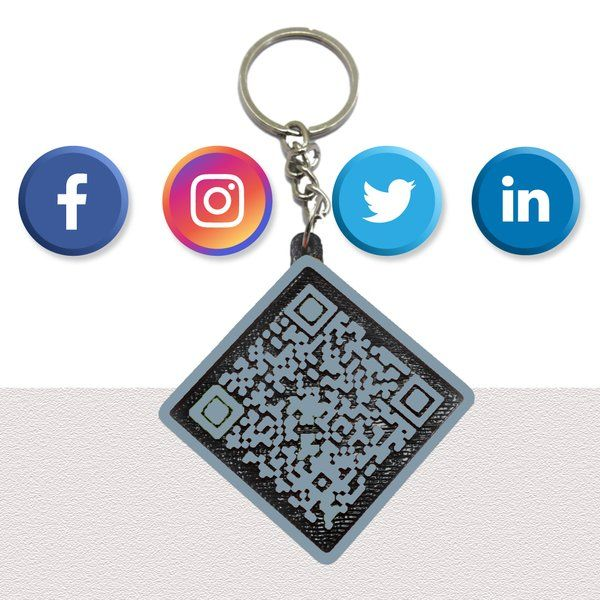 Social Profile QR keychain - Unique Personalized Corporate Gifts