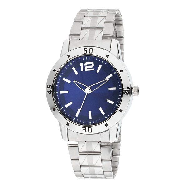 zestaindia Stainless Steel Blue Dial Analogue Watch for Men Special Birthday Gift For Brother