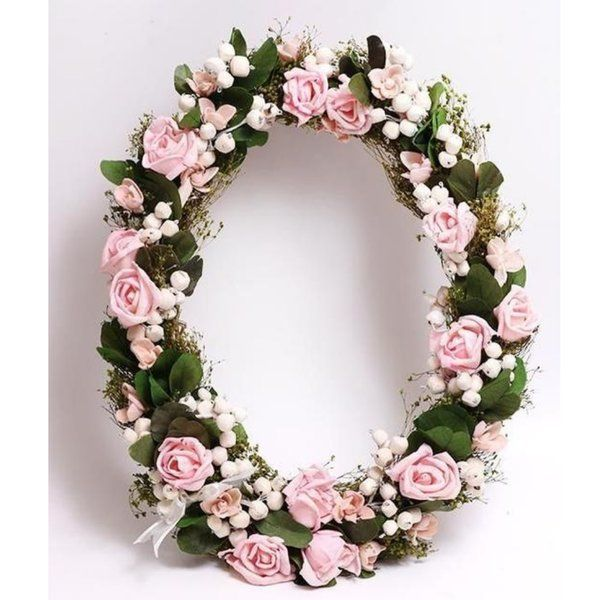 TheMaevaStore Summer Fantasy Oval Christmas Wreath Flowers For Baby Shower