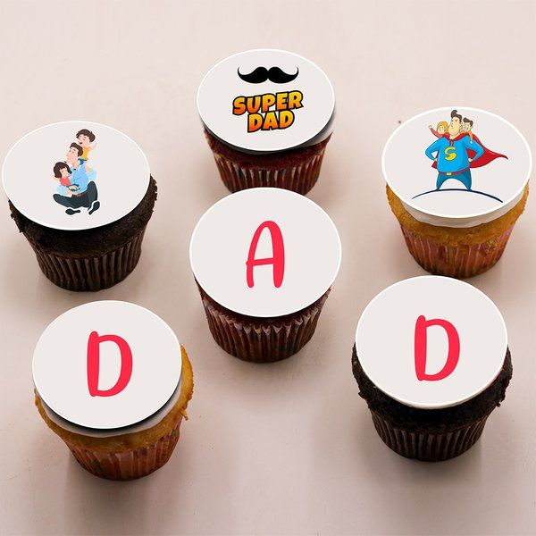 CakeZone Super Dad Cupcakes - Chocolate Last Minute Fathers Day Gifts