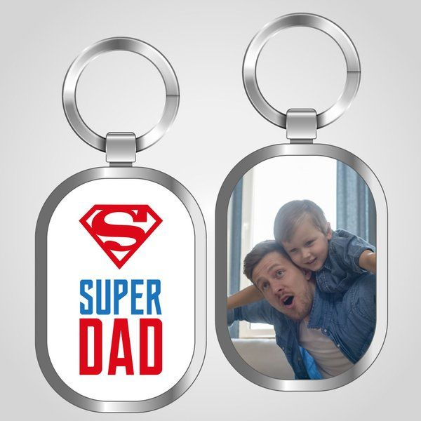 Privy Express Super Dad Keychain Dad Keychains
