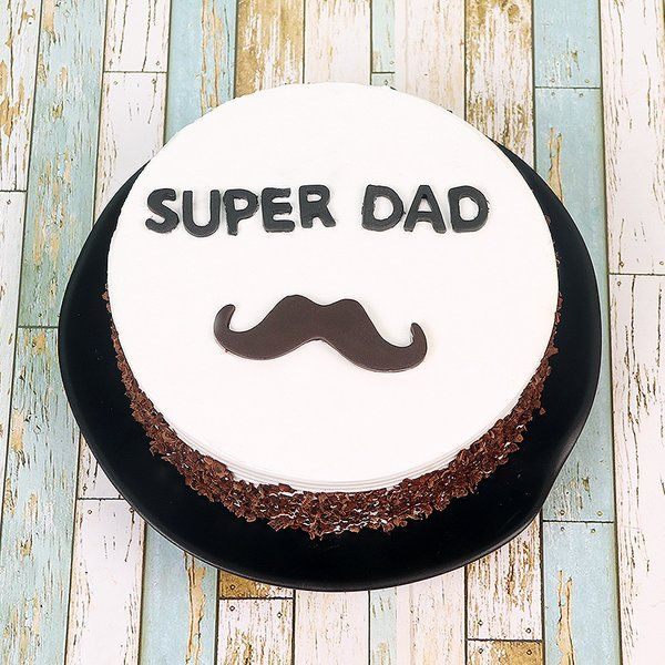 FlowerAura Super Dad Treat Cake Birthday Gifts For Father From Daughter