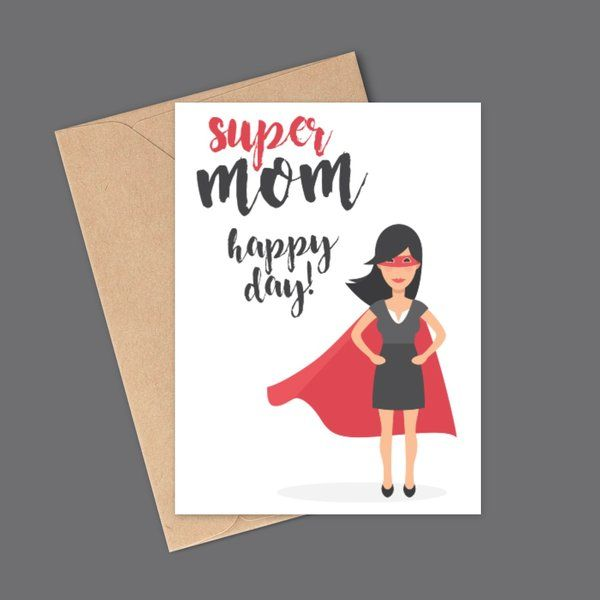 Privy Express Super Mom Greeting Card Greeting Card For Mother