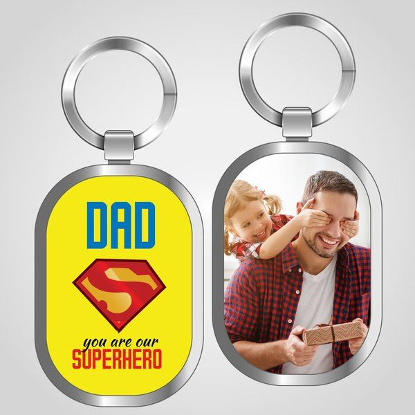 Privy Express Superhero Dad Keychain Dad Keychains