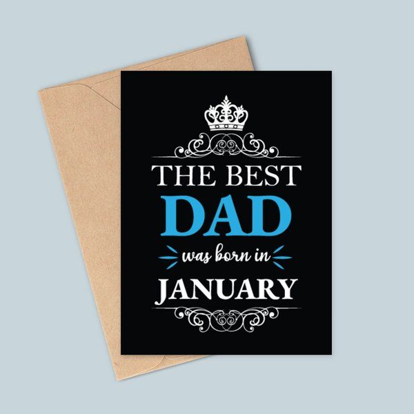 Privy Express The Best Dad was Born in January Birthday Greeting Card Birthday Card For Father