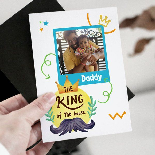 Privy Express The King of the House Greeting Card Personalized Fathers Day Gifts
