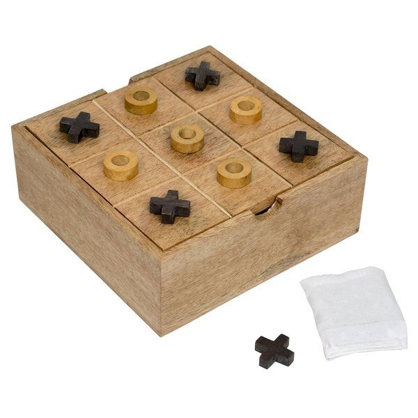 FineCraftIndia TIC TAC TOE Puzzle and Solitaire Board Game (White) Graduation Day For Kindergarten