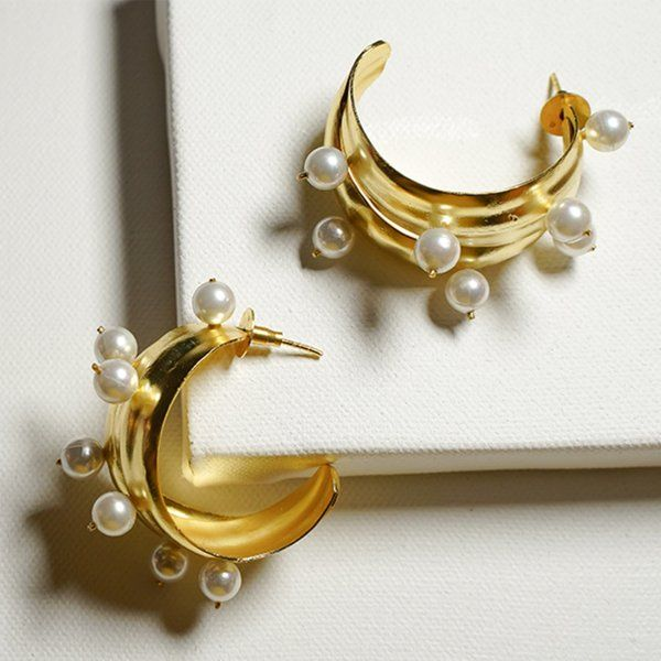 Ethnic Andaz Twirl With Pearls Birthday Gift For Elder Sister