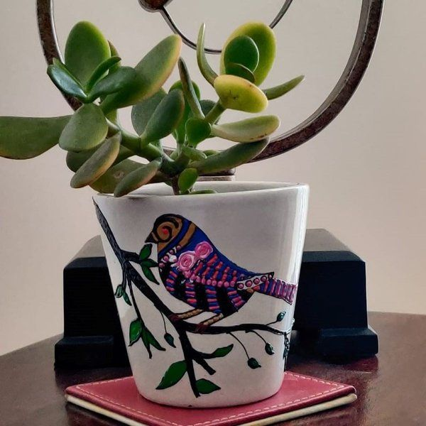 EitherOrr Vibrant Birdie Planter Useful Gifts For Dad