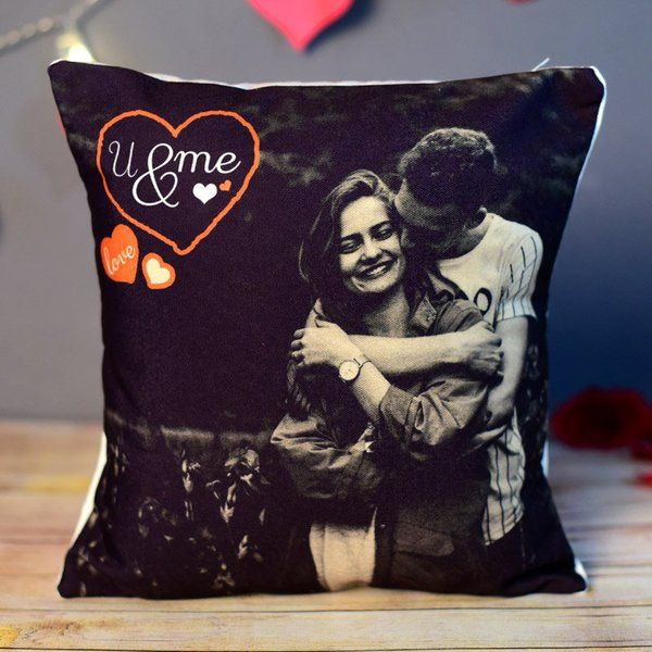 FlowerAura We Love Us Photo Cushion Husband Wife Gift