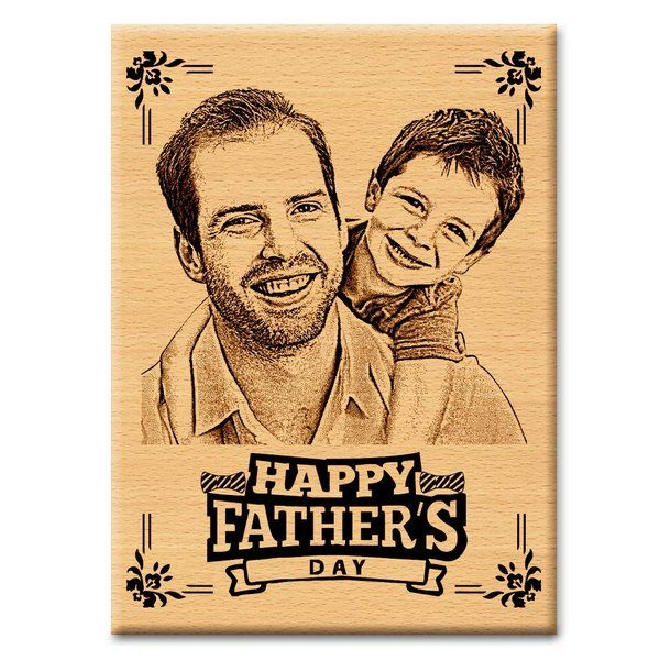 Incredible Gifts Wooden Personalized Engraved Photo Plaque Birthday Gifts For Dad From Son