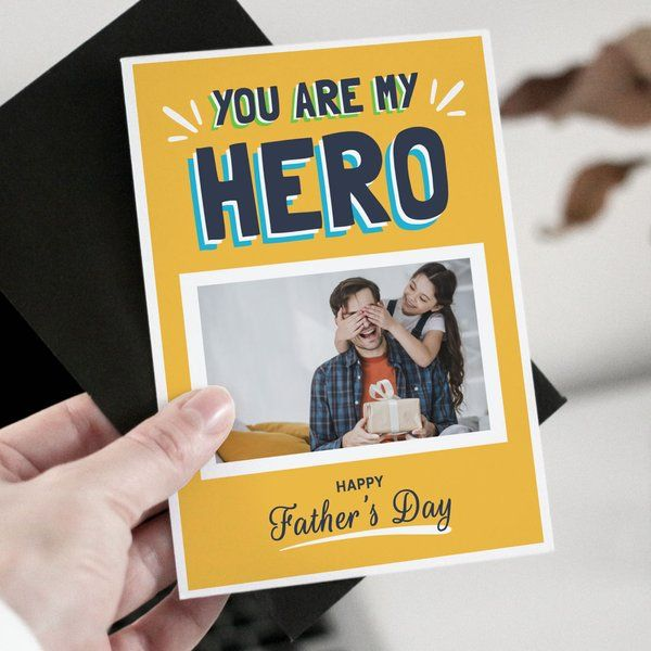 Privy Express You Are My Hero Personalised Father's Day Greeting Card Greeting Card For Fathers Day