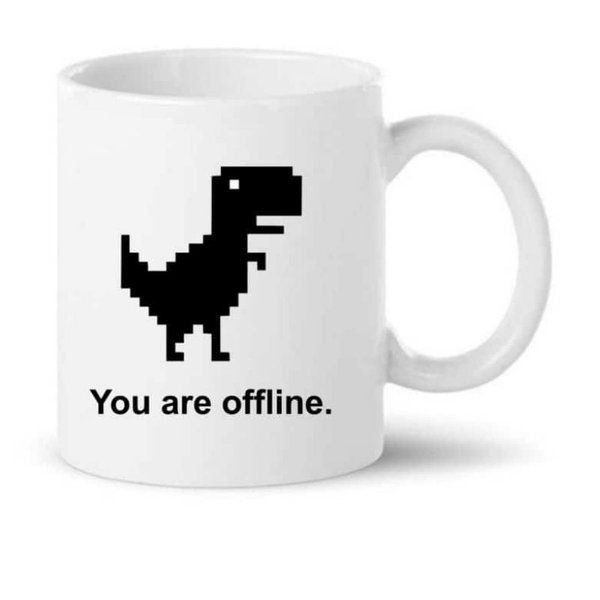 Knitroot You are offline Printed Coffee Mug  Small Gifts For Friends