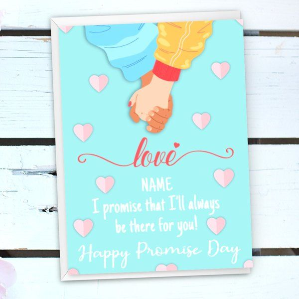 Personalized Card for Promise Day Gifts for Her