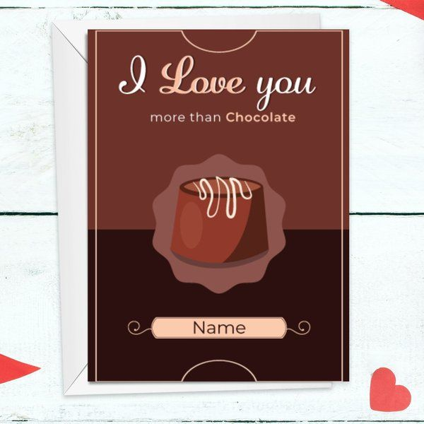 I Love You Personalized Greeting Card Romantic Birthday Gifts for Boyfriend