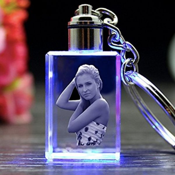 Wonderful Girlfriend Personalized 3D Crystal Photo Keychain