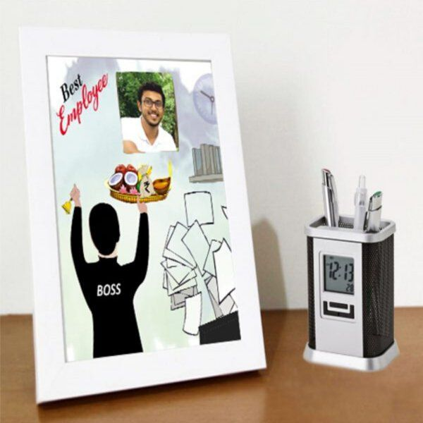 Zoci Voci Best Employee Personalized Frame. Luxury Corporate Gifts