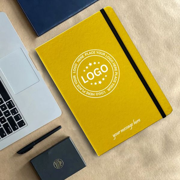 Privy Express Mustard Yellow Functional Diary/Notebook - Customizable with Company Logo and Message Luxury Corporate Gifts