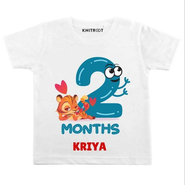Knitroot 2 Month Birthday Baby T-Shirt Monthly Birthday Ideas For Baby