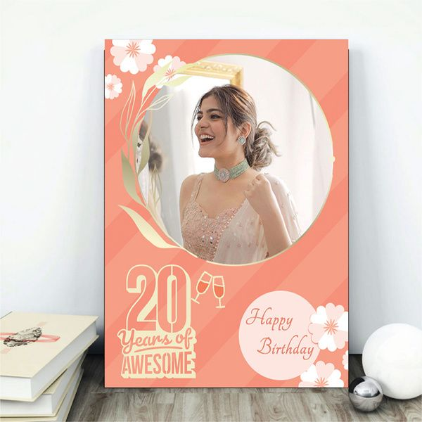 Privy Express 20 Years of Awesome 20th Birthday Personalized Table Photo Frame Birthday Gifts Under 300 Rupees
