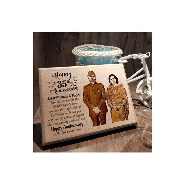 Incredible Gifts 35th Wedding Anniversary Personalized Engraved Wooden Photo Frame Anniversary Gift Ideas For Mom And Dad