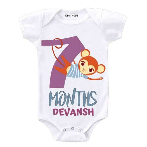 Knitroot 7th Month Baby Romper Monthly Birthday Ideas For Baby