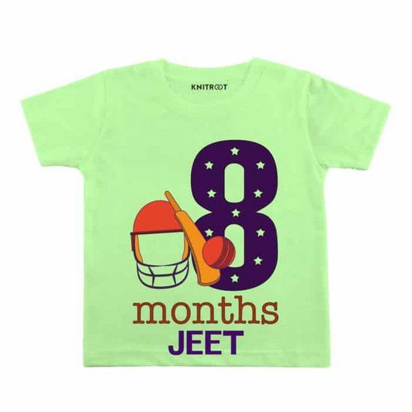 Knitroot 8th Month Birthday T-Shirt Monthly Birthday Ideas For Baby