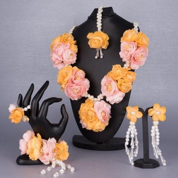 TheMaevaStore Abeer Floral Jewellery Set  marriage Gift Ideas