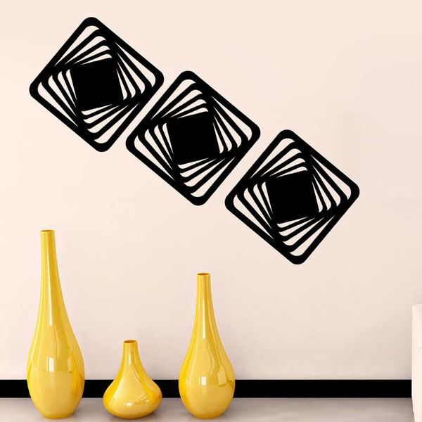 Privy Express Abstract Illusion-II Wall Panel   Set of 3 Panels Wall Decoration Items