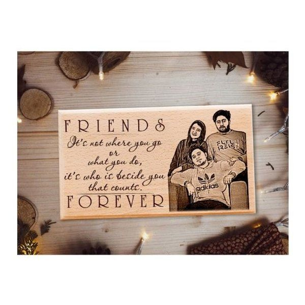 Incredible Gifts Best Friend Forever Personalized Wooden Plaque for Best Friend Wooden Photo Frames
