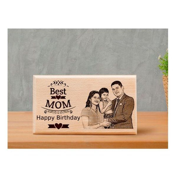 Incredible Gifts Best Surprise Personalized Gifts for Mommy's Birthday – Wooden Engraved Photo Family Photo Frames