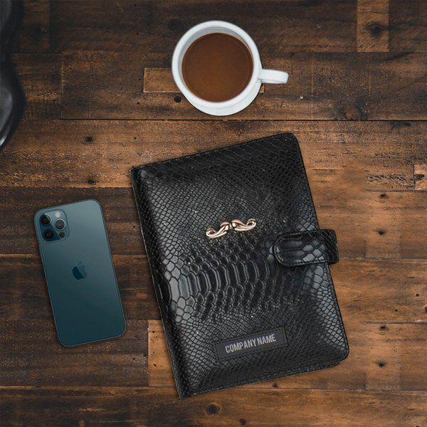 Tisora Designs Company Name Personalised Stealth Triple Black Planner (Engraved) Gift Ideas For Boss