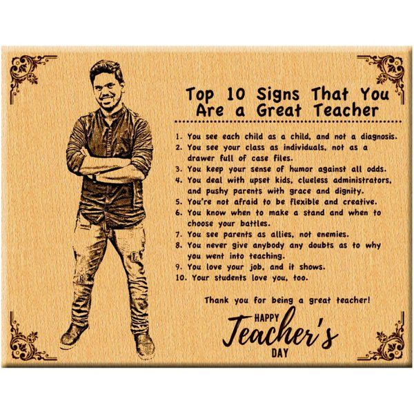 Incredible Gifts Customized Plaque Best Teacher's Day Gift Teachers Day Gift Ideas
